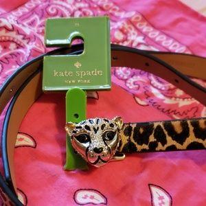 NWT kate spade Calfskin Leopard Belt